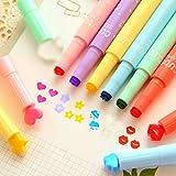 Ouneed- 3 pcs Mignon Couleur surligneurs Tampon encres Stylo Marqueur pour Creative (Multicolore)