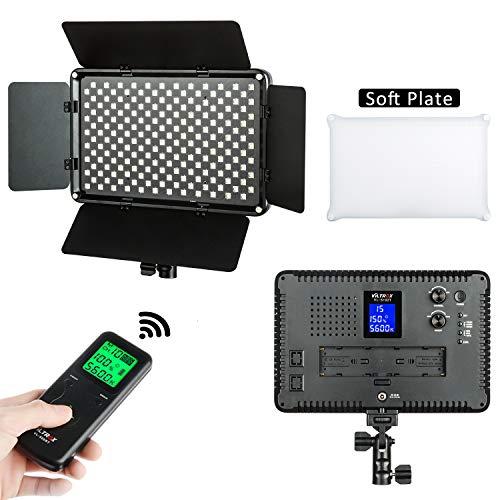 110v Dc-batterie-adapter (VILTROX VL-S192T Dimmbar LED Videoleuchte Video Licht Panel zweifarbig 3300k-5600k für Studio YouTube Porträt Fotografie 50W 4700LM CRI95 +)