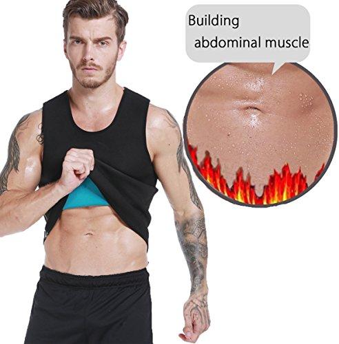 Hot Body Shaper Sauna Sweat Suit Herren Neopren Abnehmen Weste Gewicht Verlust Taille Trainer Top Workout Bauch von ribika