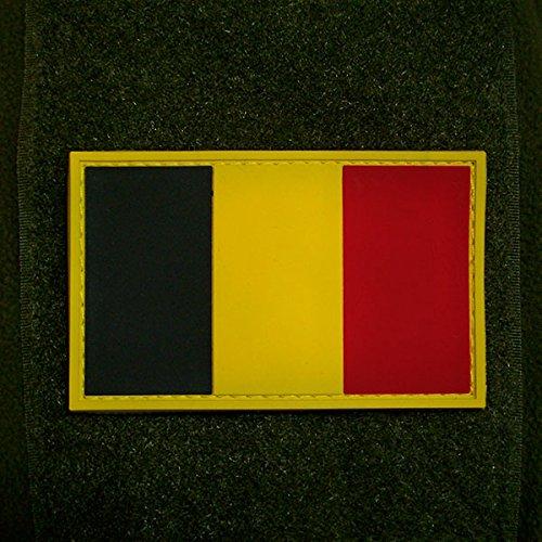 3-D Rubber Patch - Belgium Belgien België Belgique Armée belge Belgisch leger Belgische Streitkräfte Armee Fahne Flagge 8x5cm #16253