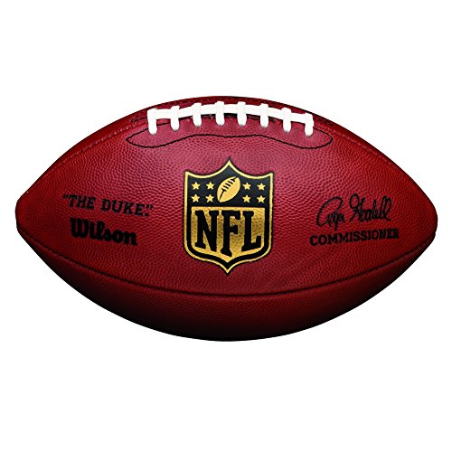 "Wilson Ballon Football Américain, Compétition, Ballon Officiel de la NFL, Taille Officielle, NFL ""DUKE"" GAME LEATHER FOOTBALL, Brun, WTF1100"