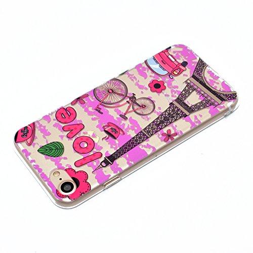 iPhone 8 7 Custodia, SportFun Slim Flexible TPU Custodia Protettiva in silicone per iPhone 8 7 Case gufo Crisantemo cavallo (02) 02