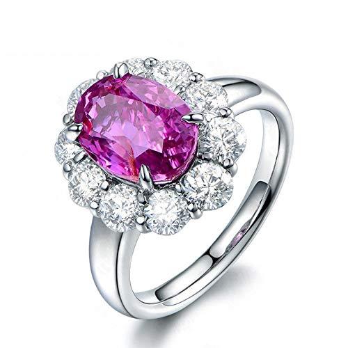 Anello fidanzamento donna argento 925 blu zirconi anelli argento fedine misura 12