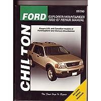 Chilton's Ford Explorer & Mercury Mountaineer 2002- 2007 Repair Manual - Mercury Mountaineer Explorer