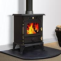 Lincsfire JA013S 5.5KW Multifuel Stove Woodburning Fireplace Cast Iron Woodburner
