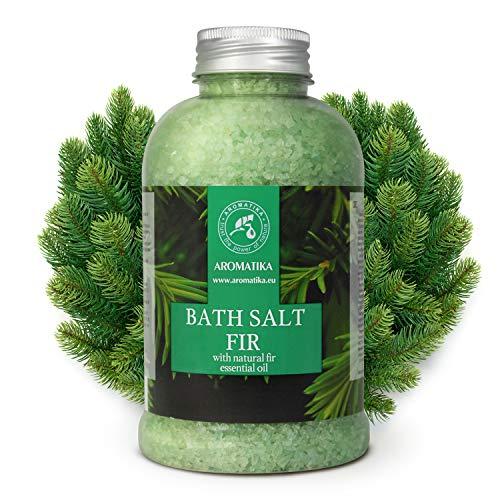 Badesalz Fichte 600g - Meersalz mit Natürlichem Ätherischen Sibirische Fichtennadelnöl - für Guten Schlaf - Stressabbau - Baden - Körperpflege - Wellness - Entspannung - Aromatherapie