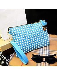 2018 New Weave Knitting Design Women Leather Handbag Designer Women Messenger Bag Ladies Crossbody Bags Clutch...