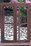 DEWOGA Deko-Fenster auf Platte 33x45cm Edelrost Rost Metall Garten Neu