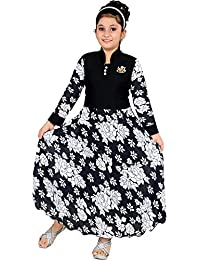 DIGIMART Girl's Black Fancy Party Wear Long Frock (FTCGOWN03)