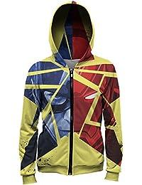 Sudadera hoodie capucha estrella Capitán América MV-MA039