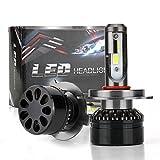 Kit H4 LED CSP Chip Ampoule HI LO Beam 6000K 60W 10000LM Lampe Frontale Blanc Froid 9V-36V Super Lumineux Tout en Un Conversion Voiture Automobile Light Halogen Ampoules HID Remplacement