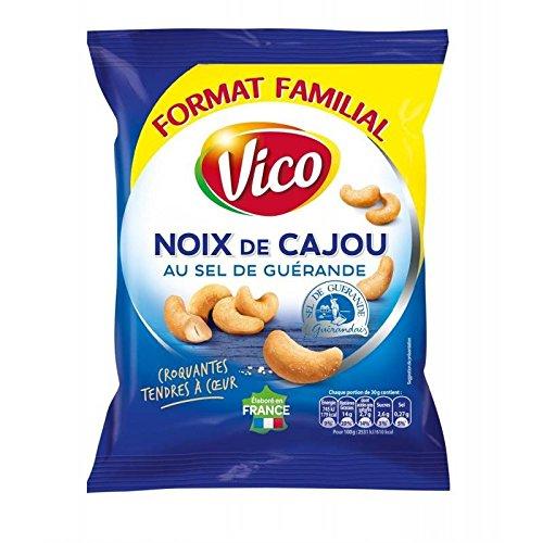 Vico noix de cajou au sel de guérande 160g - Prix Unitaire - Livraison Gratuit En France métropolitaine sous 3 Jours Ouverts