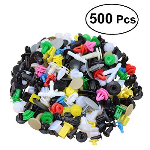 WINOMO 500pcs Clips de Pare-Chocs de voiture Rivet de Retenue en plastique Garniture Installation Rivet garde boue pas cher – Livraison Express à Domicile