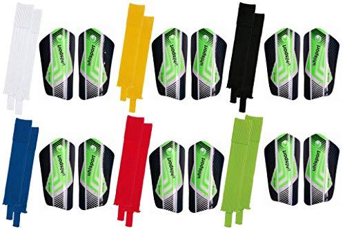 JAKO Die Sportskanone Kinder Fighter Set Fußball Schienbeinschoner und Stutzen In Verschiedenen Farben und Größen Erhältlich, Farben:Weiss;Grösse:Bambini (-1.20m)