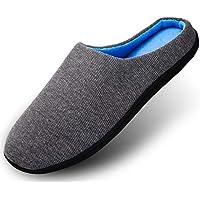 Hausschuhe Herren Pantoffeln Damen Drinnen Aus High Density Memory-Baumwolle Mit Warme Wolle-Wie Plüsch Futter Anti-Skid Gummisohle