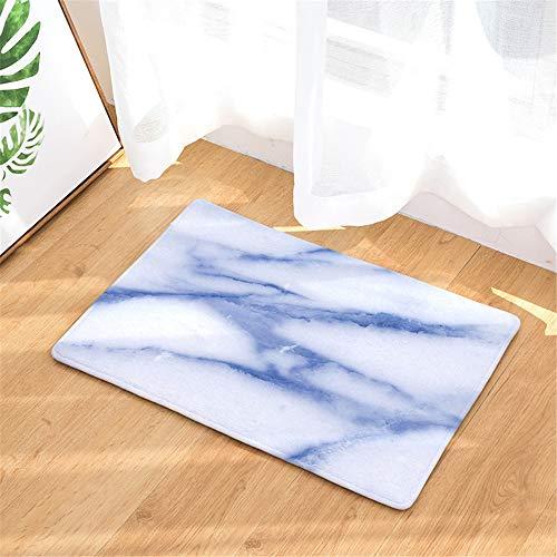 JUNDY Badematte rutschfeste Badteppiche, Maschine Waschbar Badvorleger Sets Gestreifte Fußmatte Fußmatte Anti-Rutsch-Saugpad Farbe19 50x80cm -
