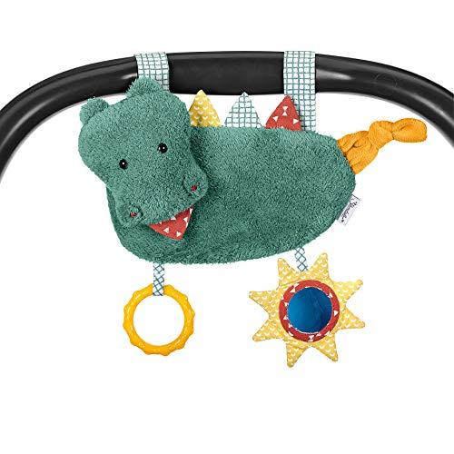 Sterntaler Spielzeug zum Aufhängen mit Klettverschluss, Kuschelzoo, Krokodil Konrad, Inklusive Rassel, Alter: Für Babys ab der Geburt, Grün