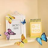 Imbry 72 Stück 3D Schmetterling Aufkleber Wandsticker Wandtattoo Wanddeko für Wohnung, Raumdekoration Klebepunkten+ Magnet (12 Blau + 12 Colour + 12 Grün + 12Gelb + 12 Rosa + 12 Rot) (Schmetterling) - 4