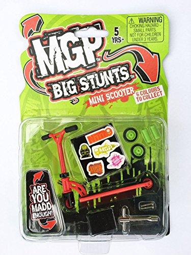 MGP Madd Gear Big Stunts Mini Scooter Finger Stunt Scooter Chilli24® Sticker Edition Farbe Rot