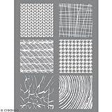 Schablone 11,4 x 15,3 cm für Plastik lehm FIMO - Material