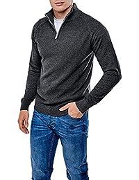 Hommes Threadbare Texturé 1/4 Zip Cou Sauteur Chandail Haut Pullover Doux HALTON