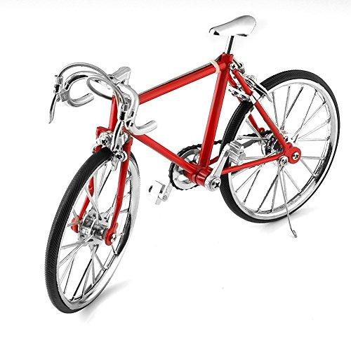 Geschenk Diecast Model Kollektionen Fahrrad Metall Modell-Fahrrad aus Metall Rot (Rot) ...