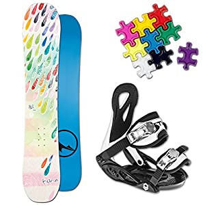 TRANS LTD GIRL KINDER SNOWBOARD SET 2017 ~ 125 CM + ELFGEN JUNIOR BINDUNG + PAD