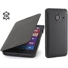 StilGut Book Type Case sin cierre clip, Funda de piel para el Microsoft Lumia 640 XL / 640 XL Dual SIM, Negro
