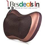 Adhibition Massage Pillow Massager Cushion Car Lumbar Neck Back Shoulder Heat Car Full Body Massage Home Pillow (Multi Color)