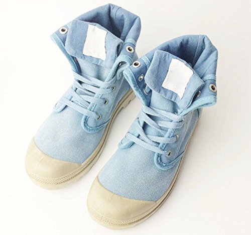 Denim Schuhe Outdoor-Schuhe Frau Aufzug Schuhe Herbst days in blue