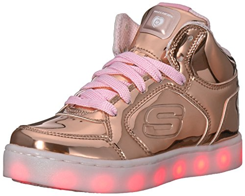 Skechers Girls Energy Lights Trainers Gold (Rose Gold), 13 UK 32 EU