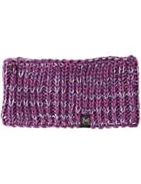 Buff Headband Knitted and Polar Rev - Cinta de pelo de fitness para mujer, color morado, talla UK: 20 cm