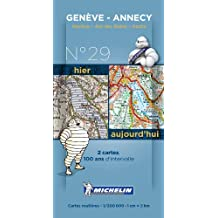 Pack 2 cartes hier/aujourd'hui Genève - Annecy Michelin
