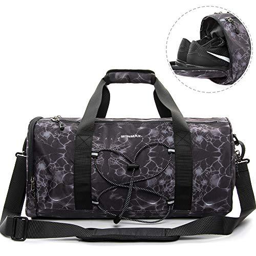d3474ed108 Premium Sac de Sport Homme avec Compartiment Chaussure, Sac Gym Fitness Bag  Sac Voyage Sport