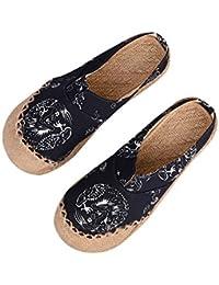 Scarpe di tela stile cinese totem Guinzaglio Lino Scarpe Scarpe Espadrillas  Scarpe Casual Comodo Mocassini estate 5ae3ab9c789