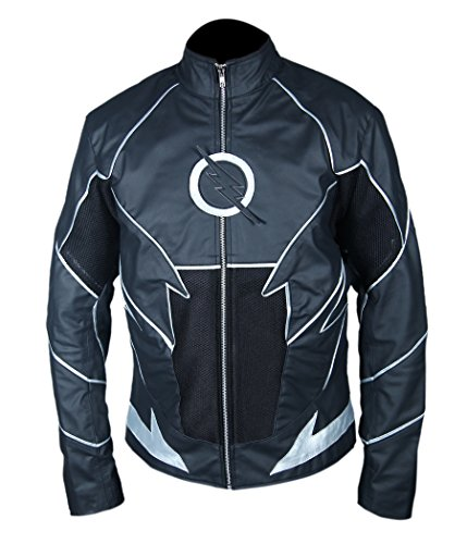 Black Zoom Flash Leather Jacket- Perfect Halloween Costume- XXS