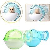 Zaote Pequeño animal doméstico jaula de plástico cuarto de baño con inodoro para chinchilla de hámster conejillos de indias - skyblue