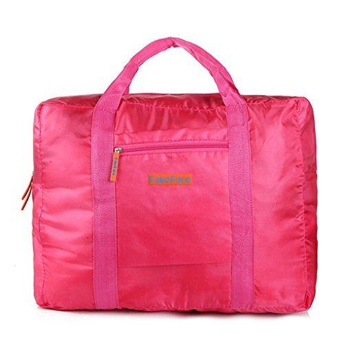 Reisetasche, Kleidertasche, Wasserdichte Damen & Herren Aufbewahrungstasche Nylon Tasche für Reise Große Kapazität Faltbare Bag Storage Wandern Sport Urlaub Outdoor Rot