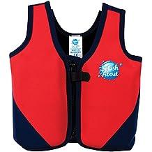 Splash About BJR3 - Chaleco flotador para niños, color rojo / azul marino, 3-6 años