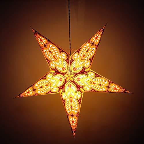 décoratifs étoile Lanterne Wedding-christmas fête à suspendre indien papiers Festive étoile Multicolor lampe
