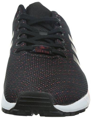 adidas Zx Flux, Chaussures de Fitness mixte adulte noir/rouge