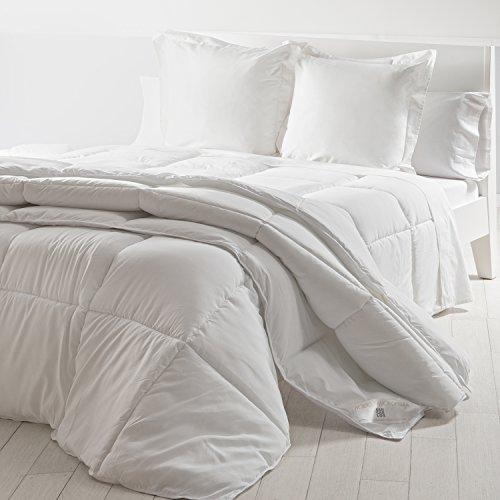 Edredón nórdico mistral relleno de microgel  densidad 350 g/m²  tacto piel de melocotón  antialérgico  color blanco  cama 135  220 x 220 cm   Sancarlos