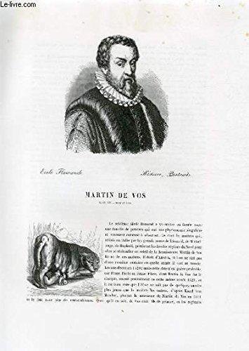 Biographie de Martin de Vos (1531-1603) ; Ecole Fl...