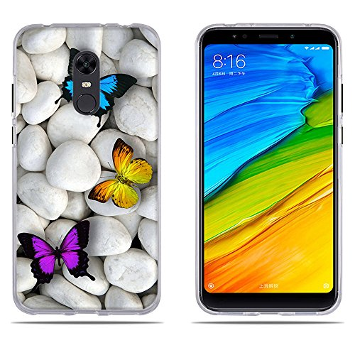 DIKAS Xiaomi Redmi Note 5 Hülle, Xiaomi Redmi 5 Plus Handyhülle, Ultra Dünn Soft Silikon, Staub und Scratch- Stoßfest TPU Handyhülle für Xiaomi Redmi 5 Plus/Xiaomi Redmi Note 5- Pic: 02