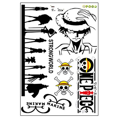Etiqueta de la pared Carro Tatuaje One Piece Anime Ruffy Lufy