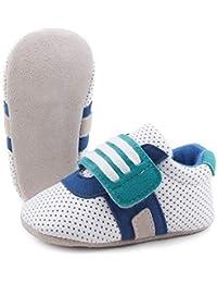 OOSAKU Scarpe da Bambina Sneakers Basse in Pelle Scamosciata morbide Scarpe  da Culla per Neonati 3c23f7673d8