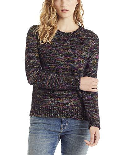 Peruanische Alpaka-pullover (Invisible World Damen Alpaka Pullover - handgefärbtes Sweatshirt mit Rundhalsausschnitt aus 100% Alpaka Wolle - Schwarz M)