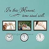 Diggoo Wandtattoo In This Moment Time Stood Still, Vinyl, für die Familie, Wanddekoration, für Esszimmer Art Deco 12.5