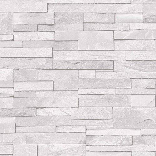 3d-slate-stone-brick-effect-wallpaper-washable-vinyl-light-grey-white