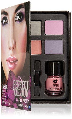 Jigsaw Perfect Colour Pastel Pretty Confezione Regalo - 8 Pezzi (Ombretto + Lucidalabbra + Smalto +